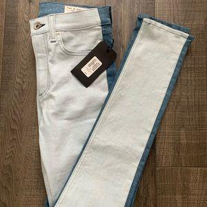 rag & bone two-toned jeans